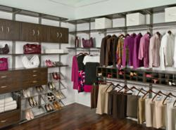 Organized Living freedomRail Chocolate Pear Closet